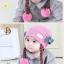 หมวกเด็กอ่อนไหมพรม Tianyi Bear ดีไซน์เปียทวิตไหมสองข้างน่ารักโดดเด่น thumbnail 13