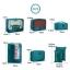 ชุดจัดกระเป๋าเดินทาง 7 ใบ จัดกระเป๋าเดินทาง ท่องเที่ยว ใส่เสื้อผ้า ชุดชั้นใน อุปกรณ์ห้องน้ำ กางเกงใน รองเท้า ถุงเท้า เครื่องสำอาง อุปกรณ์ไอที (Green) thumbnail 6