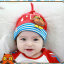 HT195••หมวกเด็ก•• / [สีแดง] นกฮูก thumbnail 4