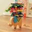 ของเล่นไม้ เกมวางสมดุลแท่งไม้บนหลังช้าง Educational Elephant Balancing Blocks thumbnail 1