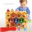 ของเล่นไม้ รังผึ้งสอนจับคู่สี การนับจำนวน ฝึกการคีบ thumbnail 1