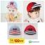หมวกแก๊ป หมวกเด็กแบบมีปีกด้านหน้า ลายตัวอักษร H (มี 2 สี) thumbnail 1