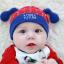 HT424••หมวกเด็ก•• / หมวกบีนนี่-สุนัข (สีแดง) thumbnail 1