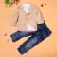 ชุดเด็กชายเซต 3 ชิ้น สูท เสื้อโปโลแขนยาว กางเกงยีนส์ขายาว thumbnail 2