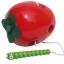 ของเล่นไม้ หนอนเจาะลูกแอปเปิ้ล ร้อยเชือก thumbnail 3