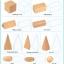 ของเล่นไม้ สอนรูปทรงเรขาคณิตสามมิติ 10 ชิ้น พร้อมถุงผ้าเก็บ thumbnail 2