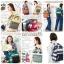 Anello backpack stripe pattern multi border thumbnail 1
