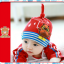 HT195••หมวกเด็ก•• / [สีแดง] นกฮูก thumbnail 2