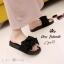 รองเท้าแตะยางไซส์ใหญ่ 42 ติดโบว์ใหญ่ สีดำ รุ่น KR0704 thumbnail 2