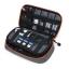 กระเป๋าใส่อุปกรณ์อิเล็กทรอนิกส์ สำหรับใส่อุปกรณ์ไอทีทุกชนิด มีสองชั้น ช่องเยอะพิเศษ มีหูหิ้วพกพาสะดวก (เทา-ส้ม) thumbnail 3