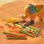 ของเล่นไม้ เกมวางสมดุลแท่งไม้บนหลังช้าง Educational Elephant Balancing Blocks thumbnail 2