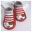 ถุงเท้ารองเท้า มีกันลื่น เนื้อผ้านุ่มนิ่ม สำหรับเด็กวัย 0-2 ปี ลายสุนัขสีแดงริ้ว thumbnail 1