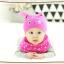 AP223••เซตหมวก+ผ้ากันเปื้อน•• / นกฮูก [สีชมพูเข้ม] thumbnail 2