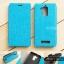 """เคส Zenfone 3 Max 5.2"""" (ZC520TL) เคสหนัง + แผ่นเหล็กป้องกันตัวเครื่อง (บางพิเศษ) สีฟ้า thumbnail 1"""