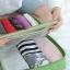 กระเป๋าจัดระเบียบ Travel Luggage Organizer เสียบที่จับของกระเป๋าเดินทางได้ มีช่องใส่สองชั้นกั้นด้วยช่องตาข่าย ผลิตจากโพลีเอสเตอร์กันน้ำ thumbnail 25
