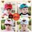 หมวกแก๊ป หมวกเด็กแบบมีปีกด้านหน้า ลายหมีสกรีนสามเหลี่ยม (มี 4 สี) thumbnail 1