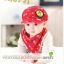 Set หมวกเด็กอ่อน+ผ้ากันเปื้อนสามเหลี่ยม Yummy Vegetable วัย 3-24 เดือน thumbnail 5