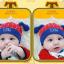 HT424••หมวกเด็ก•• / หมวกบีนนี่-สุนัข (สีแดง) thumbnail 2