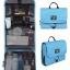 กระเป๋าใส่อุปกรณ์อาบน้ำ คุณภาพสูง ใส่อุปกรณ์อาบน้ำ แขวนได้ สำหรับเดินทาง ท่องเที่ยว (สีฟ้า) thumbnail 1