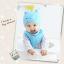 AP218••เซตหมวก+ผ้ากันเปื้อน•• / นกฮูก [สีฟ้า] thumbnail 2