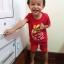 ชุดสีแดงเด็กโต เสื้อยืด+กางเกงขาสั้นเอวยางยืด สกรีนลายช้างพ่นน้ำ สำหรับเด็กวัย 3-8 ปี thumbnail 2
