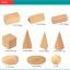 ของเล่นไม้ สอนรูปทรงเรขาคณิตสามมิติ 10 ชิ้น พร้อมถุงผ้าเก็บ thumbnail 7