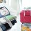 กระเป๋าจัดระเบียบ Travel Luggage Organizer เสียบที่จับของกระเป๋าเดินทางได้ มีช่องใส่สองชั้นกั้นด้วยช่องตาข่าย ผลิตจากโพลีเอสเตอร์กันน้ำ thumbnail 1