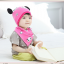 AP209••เซตหมวก+ผ้ากันเปื้อน•• / แพนด้า [สีชมพูอ่อน] thumbnail 3