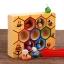 ของเล่นไม้ รังผึ้งสอนจับคู่สี การนับจำนวน ฝึกการคีบ thumbnail 8