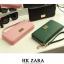 Zara Long Wallet Bestseller New With Box สายคล้องมือ พู่ห้อยและซองผ้า thumbnail 1
