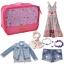 ชุดจัดกระเป๋าเดินทาง 7 ใบ จัดกระเป๋าเดินทาง ท่องเที่ยว ใส่เสื้อผ้า ชุดชั้นใน อุปกรณ์ห้องน้ำ กางเกงใน รองเท้า ถุงเท้า เครื่องสำอาง อุปกรณ์ไอที (Hot Pink) thumbnail 4