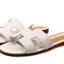รองเท้าแตะไซส์ใหญ่ 42-43 สไตล์ H สีขาว KR0390 thumbnail 1