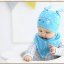 AP218••เซตหมวก+ผ้ากันเปื้อน•• / นกฮูก [สีฟ้า] thumbnail 3