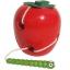 ของเล่นไม้ หนอนเจาะลูกแอปเปิ้ล ร้อยเชือก thumbnail 1
