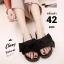 รองเท้าแตะยางไซส์ใหญ่ 42 ติดโบว์ใหญ่ สีดำ รุ่น KR0704 thumbnail 1