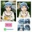 HT167••หมวกเด็ก•• / หมวกถังยีนส์ดอกกุหลาบ (มี 2 สี) thumbnail 1