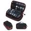 กระเป๋าใส่อุปกรณ์อิเล็กทรอนิกส์ สำหรับใส่อุปกรณ์ไอทีทุกชนิด มีสองชั้น ช่องเยอะพิเศษ มีหูหิ้วพกพาสะดวก (ดำ-แดง) thumbnail 21
