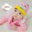 AP186••เซตหมวก+ผ้ากันเปื้อน•• / เมฆ [สีชมพู] thumbnail 3