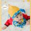 AP181••เซตหมวก+ผ้ากันเปื้อน•• / ดาว [สีเหลือง-ฟ้า] thumbnail 4