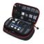 กระเป๋าใส่อุปกรณ์อิเล็กทรอนิกส์ สำหรับใส่อุปกรณ์ไอทีทุกชนิด มีสองชั้น ช่องเยอะพิเศษ มีหูหิ้วพกพาสะดวก (ดำ-แดง) thumbnail 3