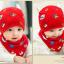 AP224••เซตหมวก+ผ้ากันเปื้อน•• / ดวงตา [สีแดง] thumbnail 3
