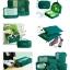 ชุดจัดกระเป๋าเดินทาง 7 ใบ จัดกระเป๋าเดินทาง ท่องเที่ยว ใส่เสื้อผ้า ชุดชั้นใน อุปกรณ์ห้องน้ำ กางเกงใน รองเท้า ถุงเท้า เครื่องสำอาง อุปกรณ์ไอที (Green) thumbnail 10
