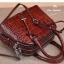 กระเป๋าถือหนังแท้ จระเข้ สีแดงเข้ม งานเกาหลี มีสายสะพายยาว รุ่น BB0158 thumbnail 4