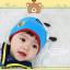 HT444••หมวกเด็ก•• / หมวกบีนนี่-ผีเสื้อ (สีฟ้า) thumbnail 3