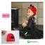 HT309••หมวกเด็ก•• / หมวกไหมพรมหูตั้ง (สีแดง) thumbnail 1