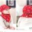 Set หมวกเด็กอ่อน+ผ้ากันเปื้อนสามเหลี่ยม Yummy Vegetable วัย 3-24 เดือน thumbnail 6