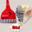 AP188••เซตหมวก+ผ้ากันเปื้อน•• / Big Dream [สีแดง] thumbnail 4