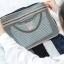 กระเป๋าจัดระเบียบ Travel Luggage Organizer เสียบที่จับของกระเป๋าเดินทางได้ มีช่องใส่สองชั้นกั้นด้วยช่องตาข่าย ผลิตจากโพลีเอสเตอร์กันน้ำ thumbnail 6
