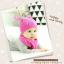 AP223••เซตหมวก+ผ้ากันเปื้อน•• / นกฮูก [สีชมพูเข้ม] thumbnail 3