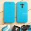 """เคส Zenfone 3 Max 5.5"""" (ZC553KL) เคสหนังฝาพับ + แผ่นเหล็กป้องกันตัวเครื่อง (บางพิเศษ) สีฟ้า thumbnail 1"""
